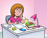 girl-working-homework-assignment-cartoon-illustration-preteen-thinking-what-to-write-47029006